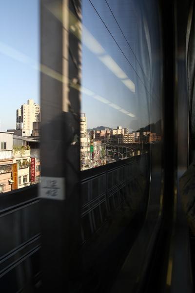 天氣好好!!坐火車真舒服~