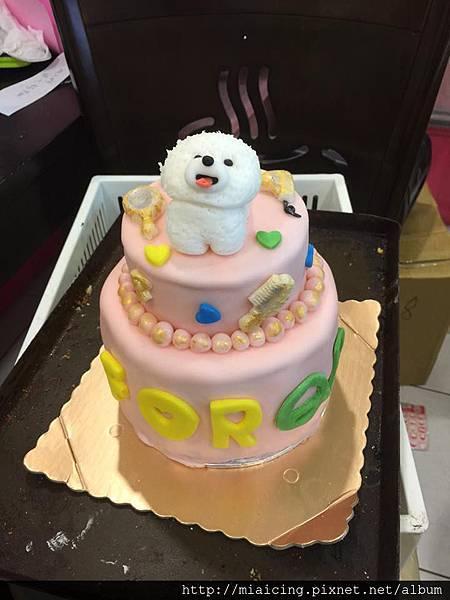 比熊雙層蛋糕