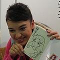 榕容拿到老師的畫超感動!