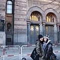 西柏林的猶太教堂前