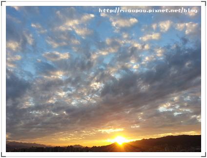 2012.12.25 板橋-耶誕節的夕陽