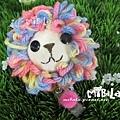 E06B-07-粉彩獅+毛球-已售