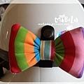 C10B18-彩虹蝴蝶結釦飾