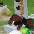 婚紗馬兒鑰匙圈-已售