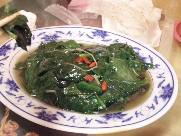 炒山蔬(麻油+枸杞)