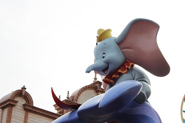 小飛象坐在鯨魚的尾巴