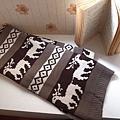 可愛麋鹿暖暖圍巾(咖啡款)