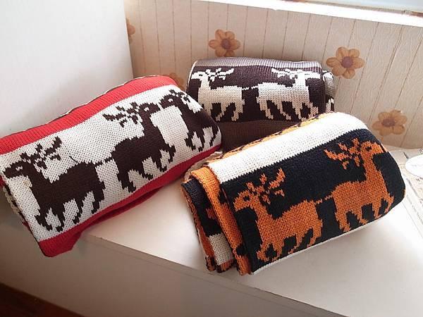 可愛麋鹿.暖暖雙面厚圍巾(共三色)