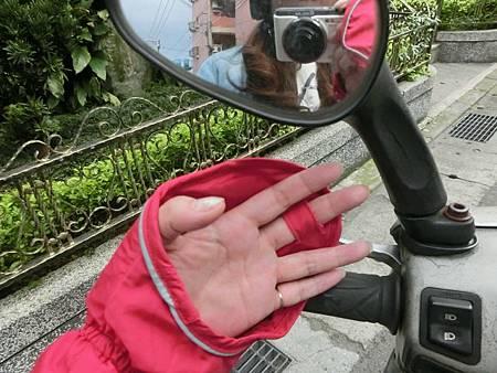 抗UV-涼感反光手套罩-機車族