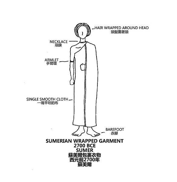 0001 Sumerian Wrapped Garment