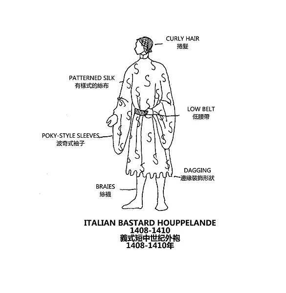 0140 Italian Bastard Houppelande