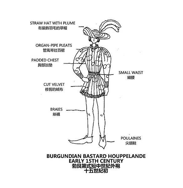 0144 Burgundian Bastard Houppelande