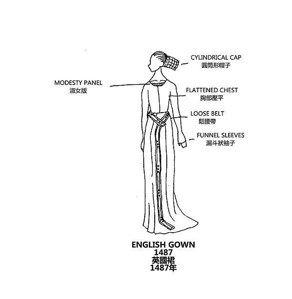 0147 English Gown