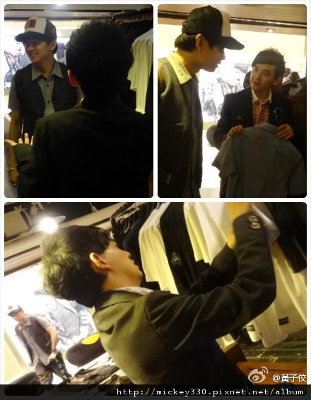 SMG台北店11/11~要正式開幕囉~前晚在店裡與@林俊杰 ~衣褲都很讚!新加坡~上海~跆北~大家多支持唷!