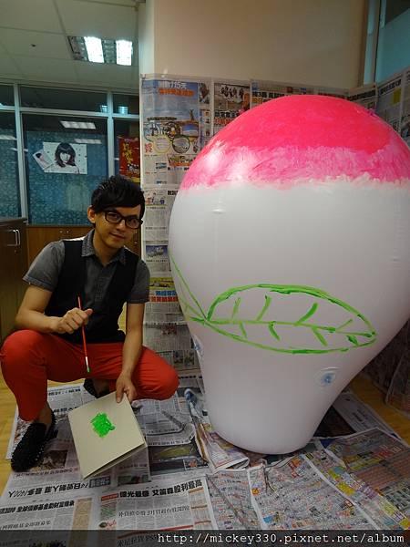 2012 5 為尊彩藝術中心二十年開展創作熱汽球:壽桃 (14)