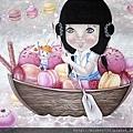 平仙妮_航向甜蜜的幸福_壓克力、畫布_35X27cm