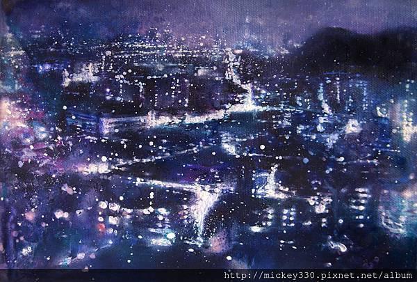 林葆靈 1F TPE Nocturne_15.5 x 22.5 cm_oil and acrylic on canvas_2013