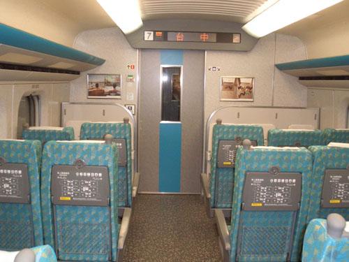 台灣高鐵車廂內部