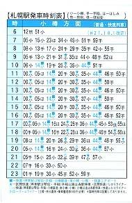 札幌車站時刻表-2