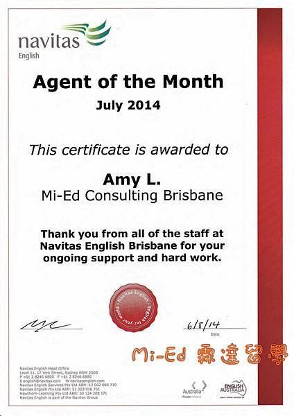 AMYNavitas - Awarded Certificate