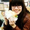 這是素漢堡唷!超好吃