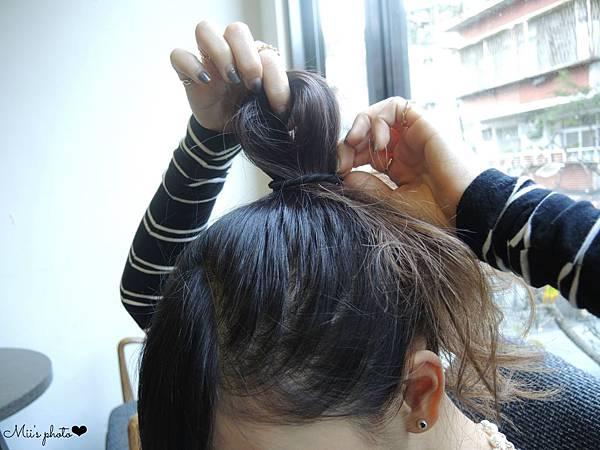 編髮教學丸子頭包頭