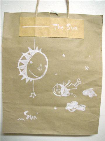 紙袋當畫布  飛翔