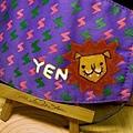 YEN訂製的口罩,閃電一大片的獅子頭