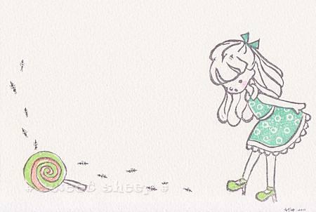 明信片_童趣e_藍綠底白圈