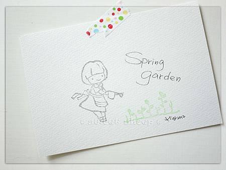 明信片_Spring Garden_單色版