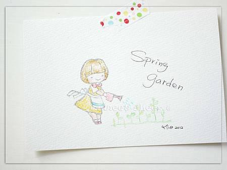 明信片_Spring Garden彩繪版