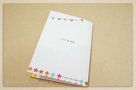 生日卡背面