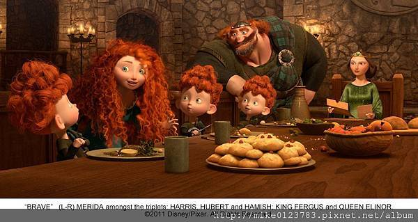 Merida-and-the-Triplets