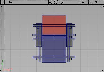 紅藍椅TOP視角,完成圖