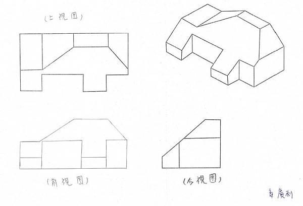 手繪,三視圖01
