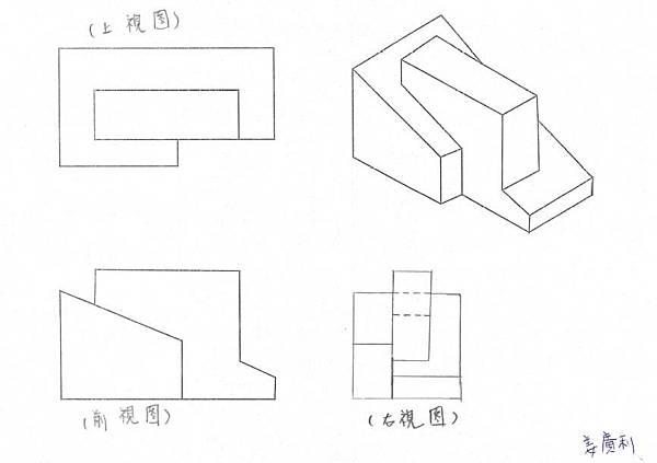 手繪,三視圖02