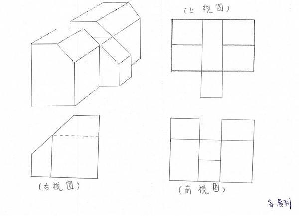 手繪,三視圖03