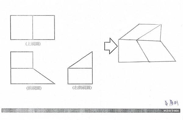 手繪,三視圖05