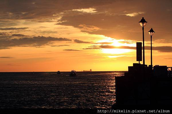 Danshui sunset view