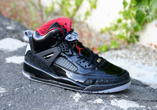 finest selection d2b37 54bfd ... air jordan spizike black patent a detailed look