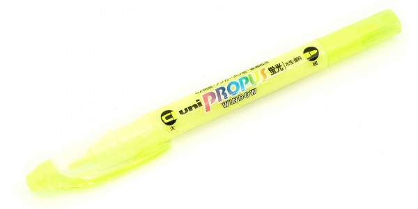 uni-ball-propus-window-highlighters-yellow