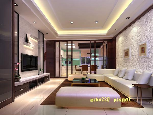 寶山客廳修正電視牆壁布檯面白烤4.jpg