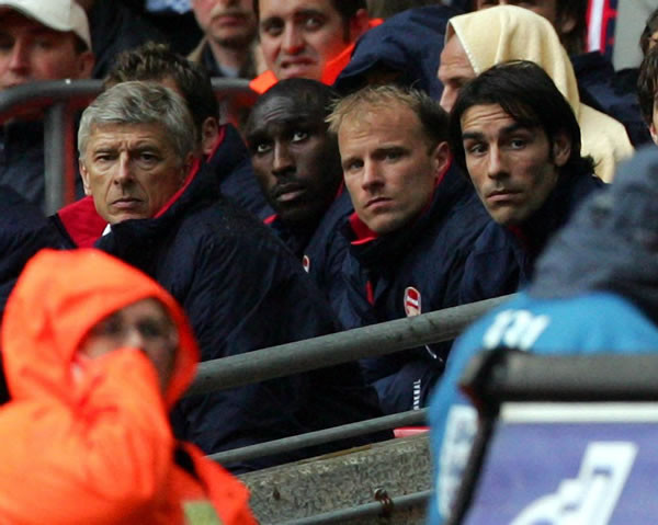 Arsenal-benchside