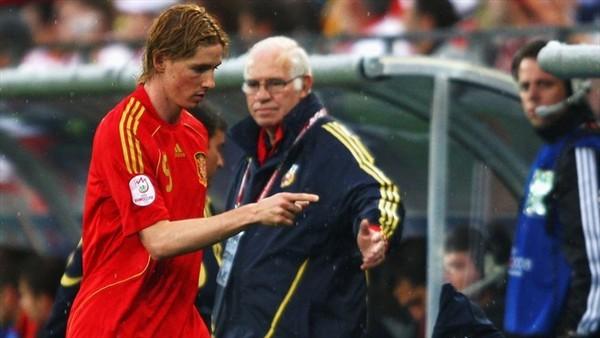 Torres下場時原本一臉不高興
