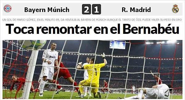 Bayern-RM-20120417-CLM11-四強第一腿結果