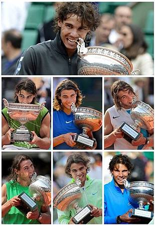 2012法網決賽-0611-Nadal-七冠紀錄