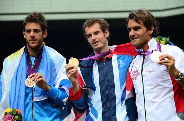 2012奧運-0805-男網-金銀銅-Murray-Federer-DelPotro