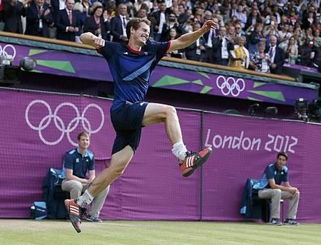 2012奧運-0805-男子決賽-Murray樂翻天