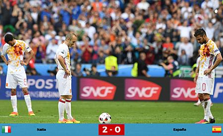 Euro2016-16強-義大利西班牙2