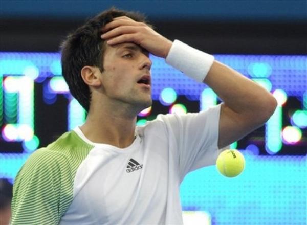 Djokovic-輸球傷腦筋-20090106